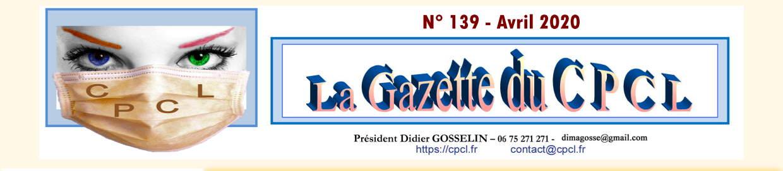 Gazette du CPCL n° 139 - Avril 2020