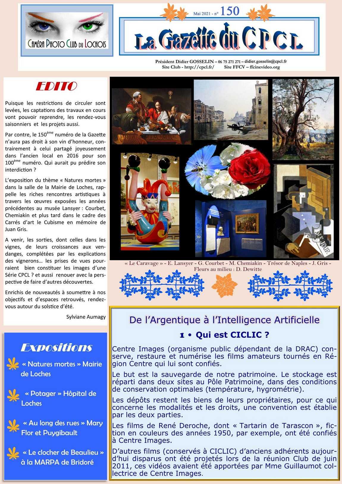 Gazette 150 - mai 2021